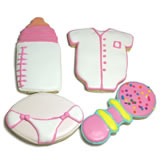 Baby Girl Iced Sugar Cookie Favors