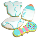 Baby Boy Iced Sugar Cookie Favors