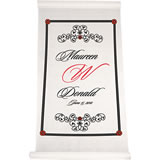 Elegant Scroll Aisle Runner