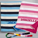 Custom Knit Blanket - Striped & Personalized