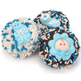 Baby Boy Dipped & Decorated Oreos- Individually Wrapped