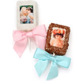 Rice Krispies Chocolate Picture Treats- Individually Wrapped with Ribbon