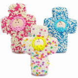 Christening Sugar Cookie Favors, Individually Wrapped