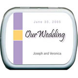 Wedding Mint Tins - Elegant Stripe