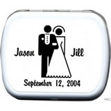 Wedding Mint Tins - Bride & Groom
