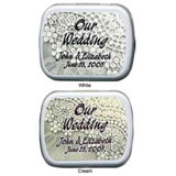 Wedding Mint Tins - Lovely Wedding Lace - White.