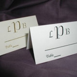 Monogram Seating Card