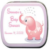 Baby Shower Mint Tins - Baby Shower Elephant