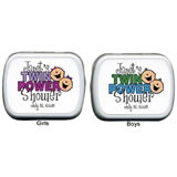 Baby Shower Mint Tins - Baby Shower Twin Power