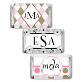 Monogram Hersheys Mini-Chocolate Favors (33 Designs Available)