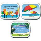 Wedding Mint Tins - Beach / Tropical (8 designs available)