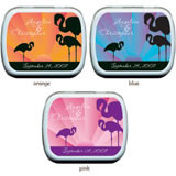 Wedding Mint Tins - Flamingo Sunrise
