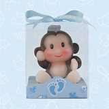 Blue Jungle Safari Monkey Candle - CLOSEOUT