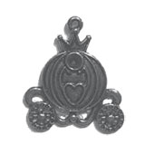 "Metal Pumpkin Coach Charm 1.25"" - Pack of 10"