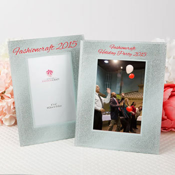 Personalized Frames - Glass - Silk-Screened - Glitz and Glamour - Holiday