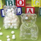 Plastic Teddy Bears Favor Boxes - Pack of 12