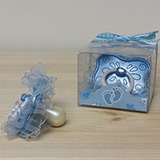 Blue Fancy Baby Pacifier Favor - CLOSEOUT