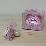 Fancy Pink Baby Pacifier Favor - CLOSEOUT