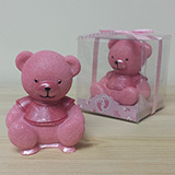 Cute Pink Teddy Bear Sitting Favor - CLOSEOUT