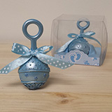 Baby Rattle Favor in Blue - CLOSEOUT