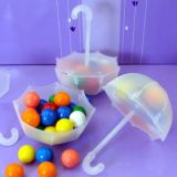 12 Plastic Fillable Umbrella Favor Holders