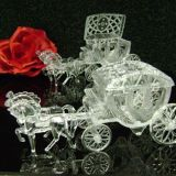 Clear Cinderella Style Horse with Fillable Carriage