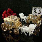 Gold Cinderella Style Horse with Fillable Carriage