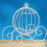 Wire Pumpkin Coach Carriage Centerpiece