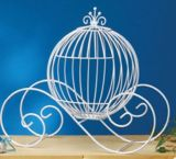 Large Wire Pumpkin Coach Carriage Centerpiece