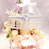 "17 "" White Metal Bird Cage"