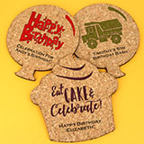 Kids Birthday Theme Shaped Cork Coaster