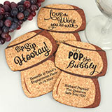 Personalized Cork Stopper Cork Coaster