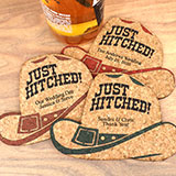 Personalized Cowboy Hat Cork Coaster