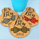Baby It's A Boy Cork Coaster