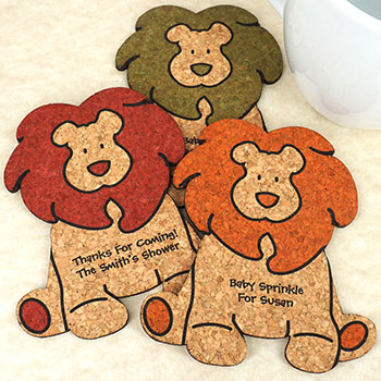 Baby Lion Cork Coaster