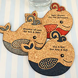 Baby Whale Cork Coaster
