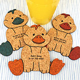 Baby Duck Cork Coaster