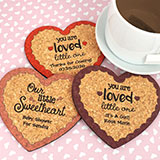 Baby Heart Cork Coaster