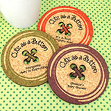 Baby Button Cork Coaster