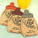 Baby Bottle Cork Coaster