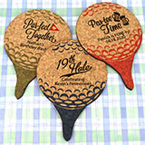 Personalized Golf Ball Cork Coaster