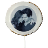 "2.5"" Round Photo/Logo Cookie Pops, dozen"