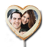 "3"" Heart Photo/Logo Cookie Pop, dozen"