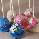 Cake Pop Favors - Flowers & Scrolls, each