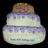Birthday Cake Cookie, Personalized