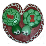 "Hand Decorated ""Love Turtles"" Cookie"