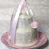 2 Tier Mini Hand Decorated Cake, ea.